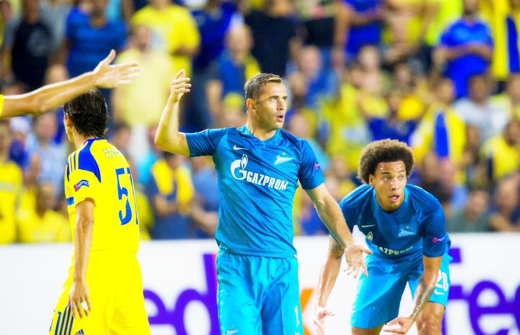 «Зенит» напоследних минутах вырвал победу у«Маккаби» вматче Лиги Европы