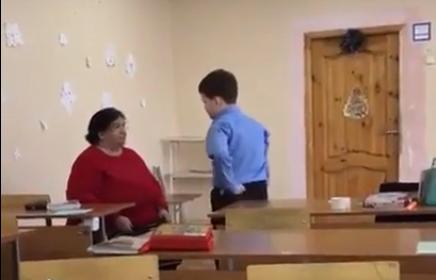 Видео училка высекла ученика