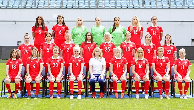 Женский футбол испания россия