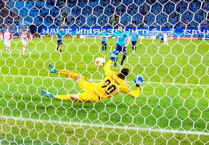 «Зенит» обыграл «Вардар» вматче 5-ого тура группового этапа Лиги Европы