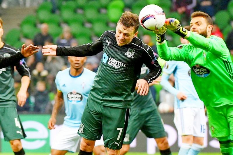 «Краснодар» проиграл «Сельте» инесмог выйти в ¼ финала Лиги Европы