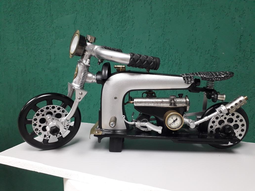 Волгоградцев приглашают посмотреть на мотоциклы, сделанных из швейной машинки
