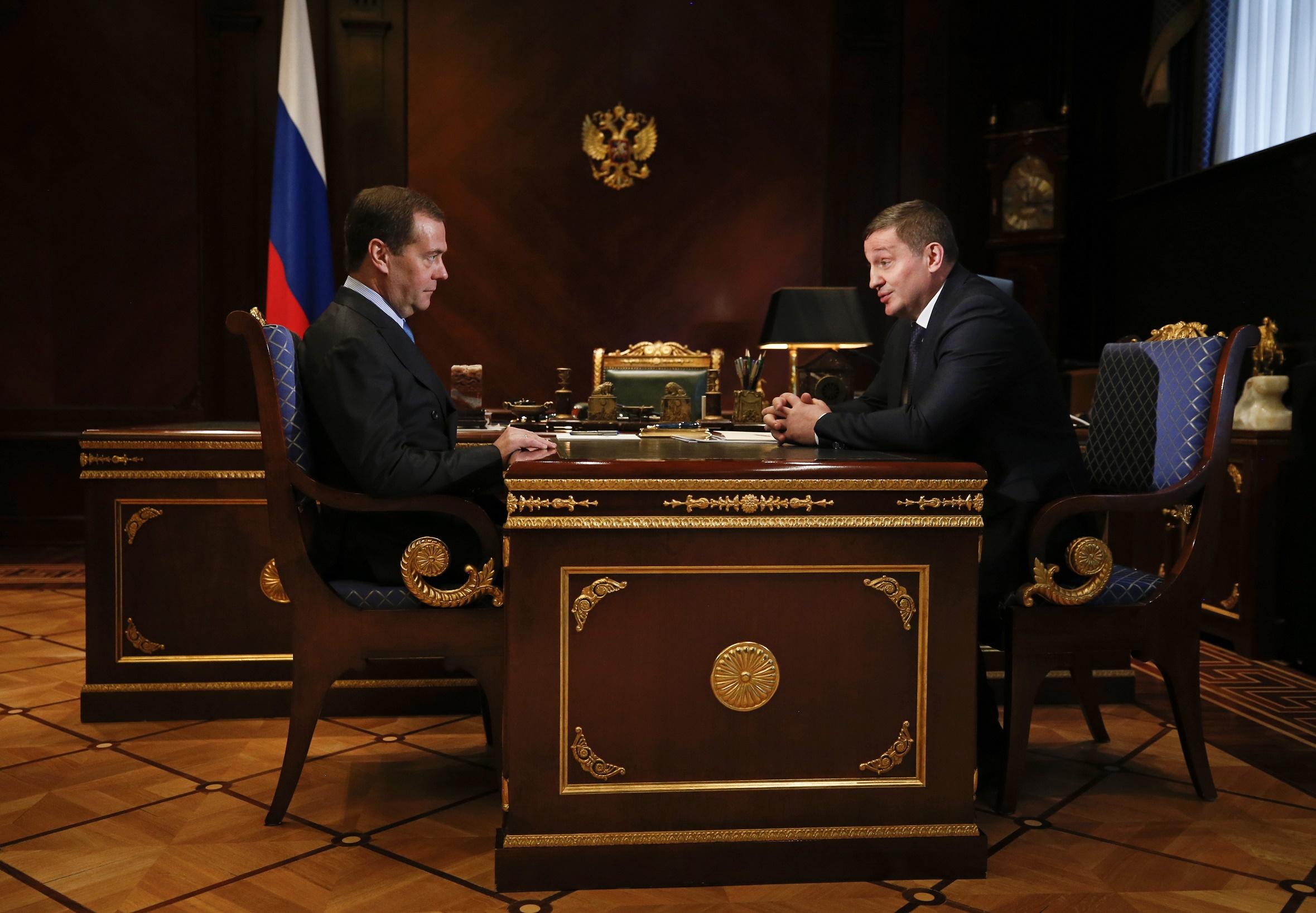 Встреча Андрея Бочарова с Дмитрием Медведевым