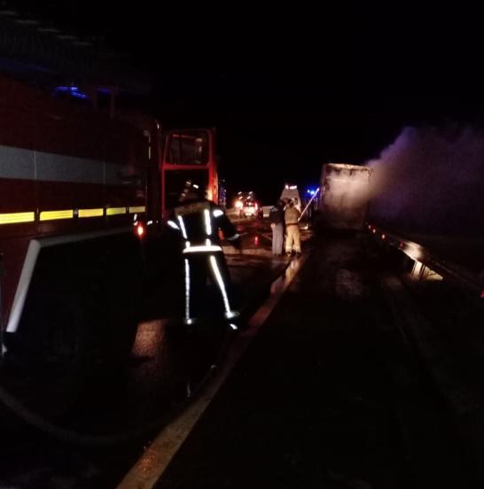 автобус загорел