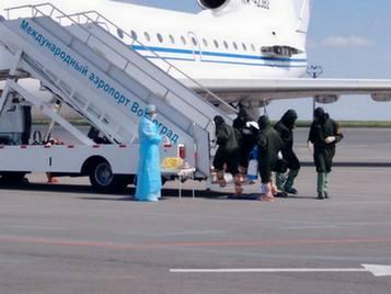 В аэропорту Волгограда с африканского рейса сняли заразного пассажира