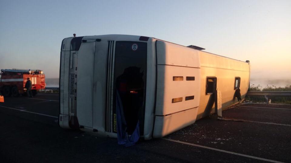 Смертельна авария с пассажирским автобусом произошла в Волгоградской области
