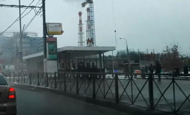 Взрыв впереходе станции «Коломенская» попал навидео