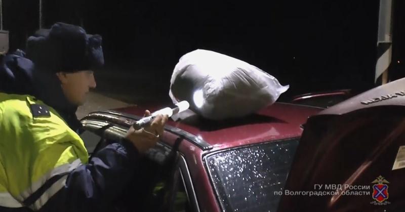 ВМихайловке упассажира иномарки отыскали практически 4кг марихуаны