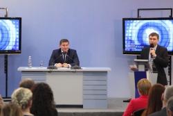 Пресс-конференция губернатора Волгоградской области Андрея Бочарова