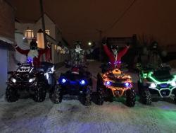 Волгоградцев поздравили Дед Мороз и Снегурочка на квадрациклах