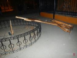 В Волгограде задержали вандалов, пытавшихся сжечь церковный крест