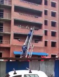 В Саранске в строящемся доме рухнули лестничные пролеты