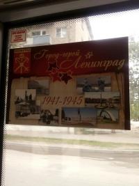 Волгоградцы возмутились  появлением плакатов с изображением Ленинграда в автобусах «Питеравто»
