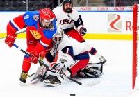 США - Россия - 4:5 (0:0; 0:2; 4:3).
