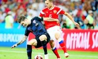 Россия - Хорватия - 2:2 (1:1, 0:0, доп. вр. 0:1, 1:0), пенальти - 3:4.