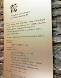 ФИФА убрала памятную табличку Йозефа Блаттера