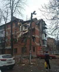 Из-за взрыва газа в Краснодаре частично обрушился пятиэтажный дом