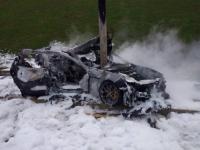 В сгоревшем Maserati бесследно пропало тело кота
