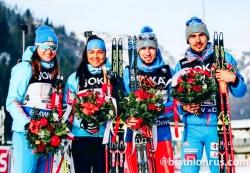 Россияне завоевали бронзу в смешанной эстафете