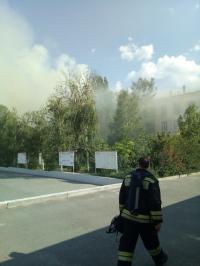 В Волгограде тушат аграрный университет
