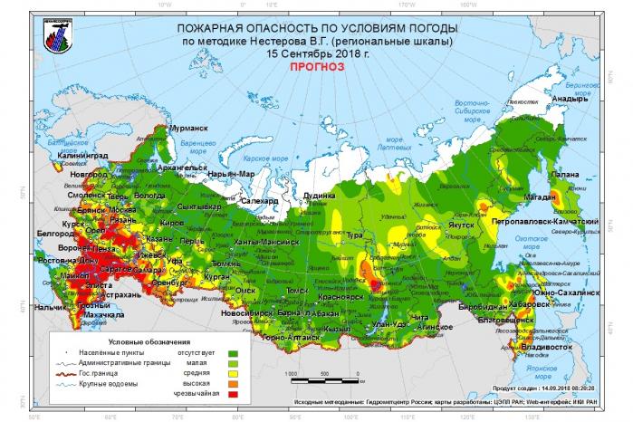 Рослесхоз заявил о массовых пожарах в лесах в 66 регионах РФ