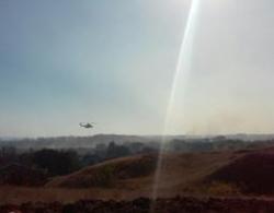 Для тушения пожара в Волгоградской области задействован вертолет